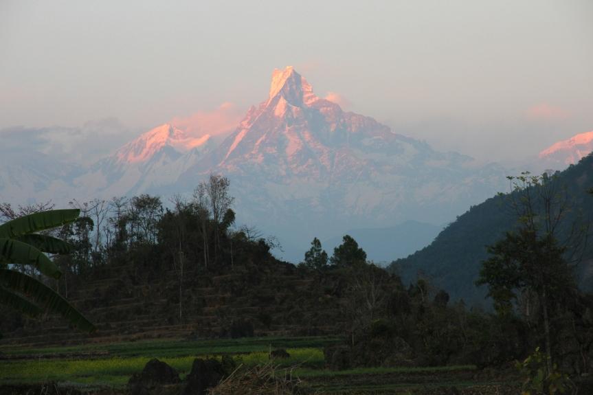 Vandring i monsunen i Nepal1969