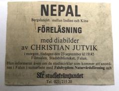 Föreläsning i Falun 1975