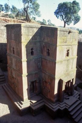 St georgs kyrka i Lalibela
